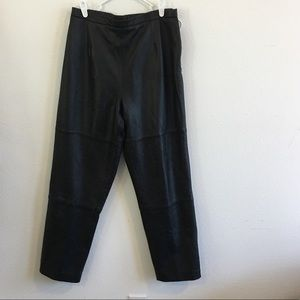 Pamala McCoy Black Leather Pants